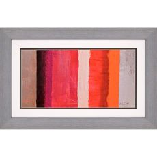 Beach Stripes - Warm Framed Art