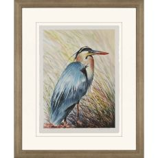 Big Blue Heron Framed Art