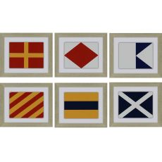 Nautical Signals Pk/6 Framed Art
