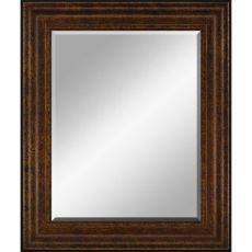 22 in. X 28 in. Framed Beveled Mirror