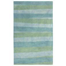 "Liora Manne Piazza Stripes Indoor Rug Sea Breeze 5'X7'6"""