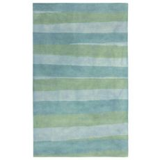 "Liora Manne Piazza Stripes Indoor Rug Sea Breeze 7'6""X9'6"""