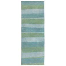 "Stripes Sea Breeze Rug 27"" X 8'"