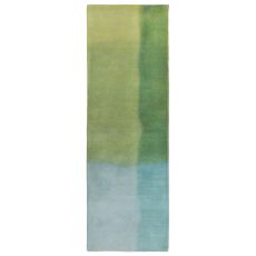 """Watercolors Sea Breeze Rug 27"""" X 8'"""