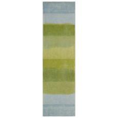 "Liora Manne Piazza Textured Stripe Indoor Rug Sea Breeze 27""X8'"
