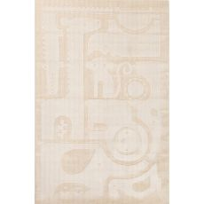 Youth Animal Pattern Ivory/White Wool Area Rug (8X10)