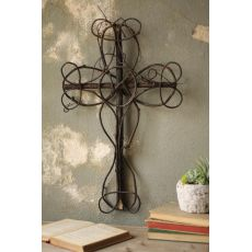 Black Vine Decorative Cross, Set of 4