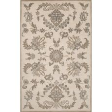 Classic Oriental Pattern Ivory/Taupe Wool Area Rug (8X11)