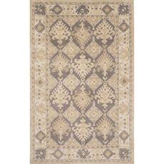 Classic Oriental Pattern Gray Wool Area Rug (9X13)