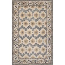 Classic Tribal Pattern Blue/Taupe Wool Area Rug (8X11)