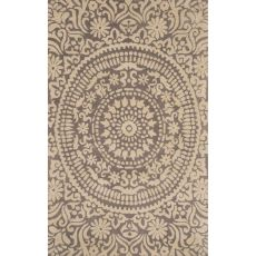 Contemporary Medallion Pattern Gray Wool Area Rug (8X11)