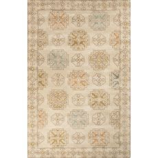 Contemporary Tribal Pattern Beige/Yellow Wool Area Rug (9X13)