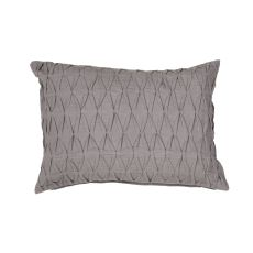 """Modern/Contemporary Pattern Gray Cotton And Linen Down Fill Pillow ( 14""""X20"""")"""