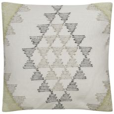 """Traditional & Classic Pattern Ivory/Green Viscose And Cotton Down Fill Pillow ( 18""""X18"""")"""