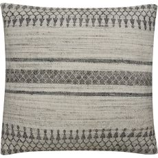 """Traditional & Classic Pattern Ivory/Gray Viscose And Wool Down Fill Pillow ( 20""""X20"""")"""