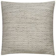 "Modern/Contemporary Pattern Ivory/Black Viscose Down Fill Pillow ( 22""X22"")"