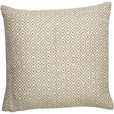 """Modern/Contemporary Pattern Ivory/Taupe Viscose And Linen Down Fill Pillow ( 22""""X22"""")"""