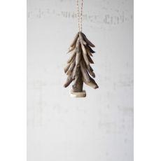 Driftwood Tree Christmas Ornament Set of 4
