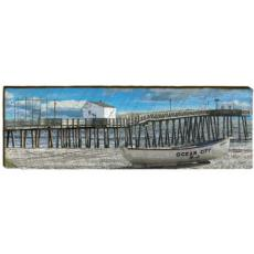 Pier and Boat Wood Wall Art