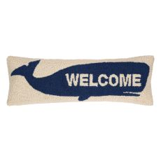 Welcome Whale Hook Pillow 8X24 in.