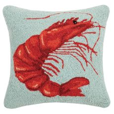 Shrimp Hook Pillow 16X16 in.