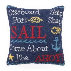 Sail I Hook Pillow 18X18 in.