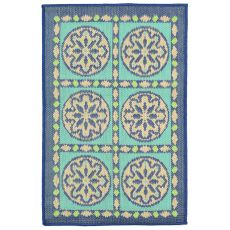 "Liora Manne Playa Tile Indoor/Outdoor Rug - Blue, 23"" by 35"""