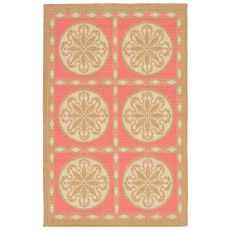"Liora Manne Playa Tile Indoor/Outdoor Rug - Orange, 39"" by 59"""