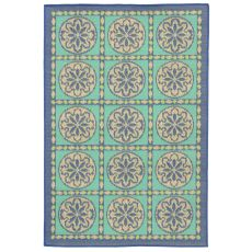 "Liora Manne Playa Tile Indoor/Outdoor Rug - Blue, 39"" by 59"""