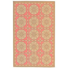 "Liora Manne Playa Tile Indoor/Outdoor Rug - Orange, 7'10"" by 7'10"""