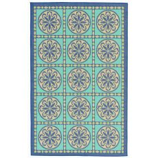 "Liora Manne Playa Tile Indoor/Outdoor Rug - Blue, 4'10"" by 7'6"""