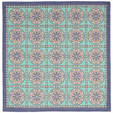 "Liora Manne Playa Tile Indoor/Outdoor Rug - Blue, 7'10"" by 7'10"""