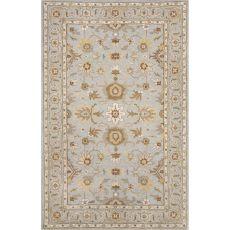 Classic Oriental Pattern Blue/Brown  Wool Area Rug (9X12)