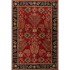 Classic Oriental Pattern Red/Black  Wool Area Rug (9X12)