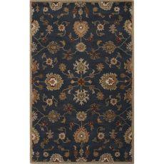 Classic Oriental Pattern Blue/Orange Wool Area Rug (9X12)