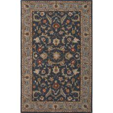 Classic Oriental Pattern Blue Wool Area Rug (9X12)