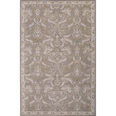 Classic Oriental Pattern Gray Wool Area Rug (9X12)
