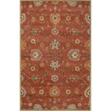 Classic Oriental Pattern Orange Wool Area Rug (9X12)