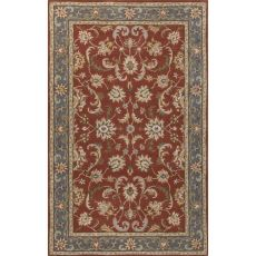 Classic Oriental Pattern Red/Blue Wool Area Rug (9X12)