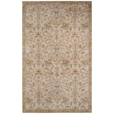 Classic Oriental Pattern Gray Wool Area Rug (9x12)