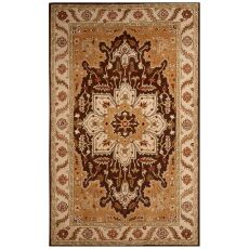 Classic Oriental Pattern Beige/Taupe Wool Area Rug (9X12)