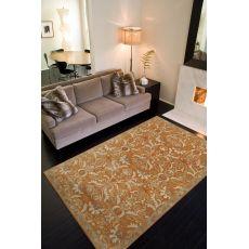 Classic Oriental Pattern Orange/Ivory  Wool Area Rug (9X12)