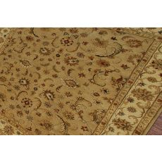 Classic Oriental Pattern Taupe/Ivory  Wool Area Rug (9X12)