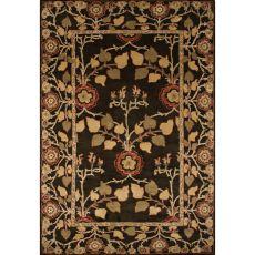 Floral & Leaves Pattern Wool Poeme Area Rug