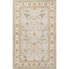 Classic Oriental Pattern Blue/Ivory  Wool Area Rug (8X10)