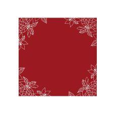 Poinsettia 34X34 Table Topper