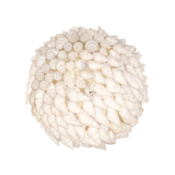 Hermit Shell Decorative Sphere In White
