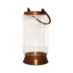 Taos Small Lantern In Burned Copper