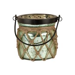 Candice Lantern In Antique Azure