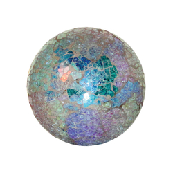 Montage 4-Inch Sphere In Azure Crackle
